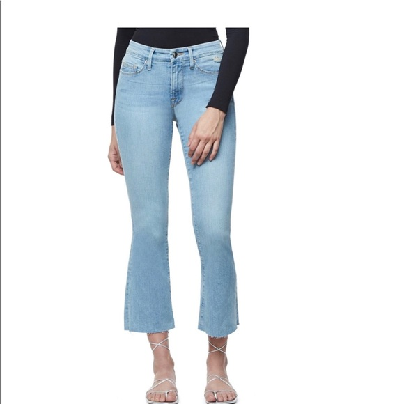 Good American Denim - Good American Crop Raw Hem Good Boot Jeans Blue063